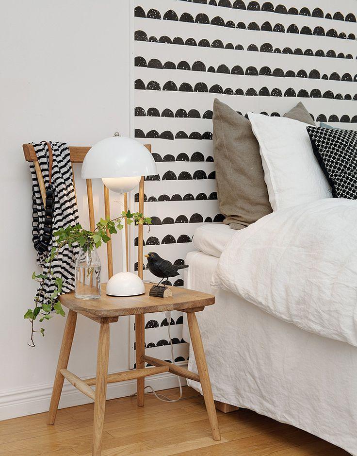 papier peint chambre noir et blanc