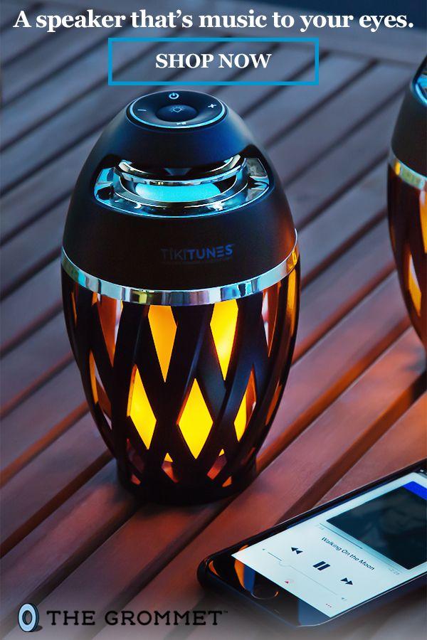 Portable Bluetooth Speaker Led Light By Tikitunes In 2020 Outdoor Bluetooth Speakers Backyard Outdoor