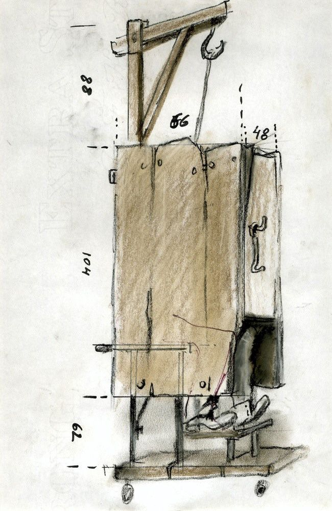 Tadeusz Kantor Sienna – October 88; 1988; Black felt-tip pen, pastel crayon on paper; 29 x 20,5 cm (part of the group of 25 drawings)