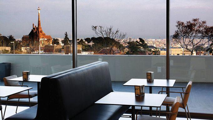 Vistas Barcelona desde cafetería MIMO