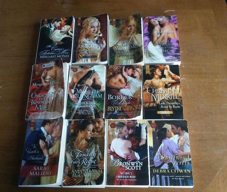12 Lot Historical Romance Books Harlequin Novels
