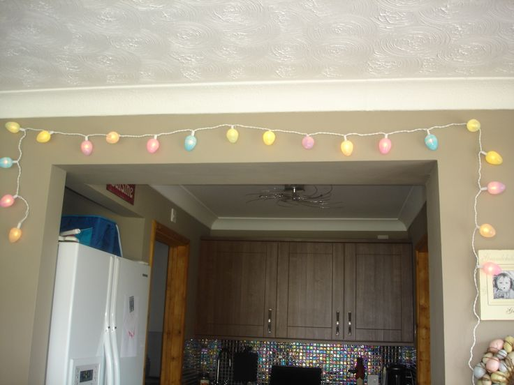 Easter Egg Fairy Lights made with Fillable plastic egg hunt eggs from £1 shop