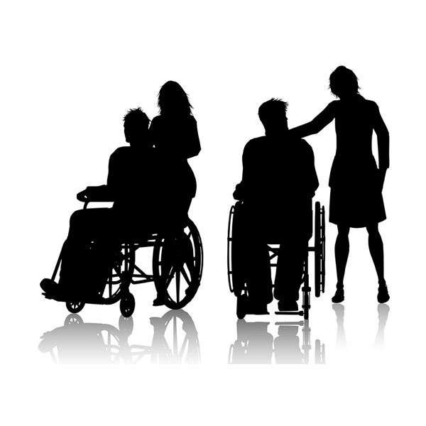 Wheelchair Persons And Care Vector Ai Silhouette Vector Vector Wheelchair