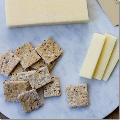 Homemade Flaxseed and Cracked Pepper Crackers