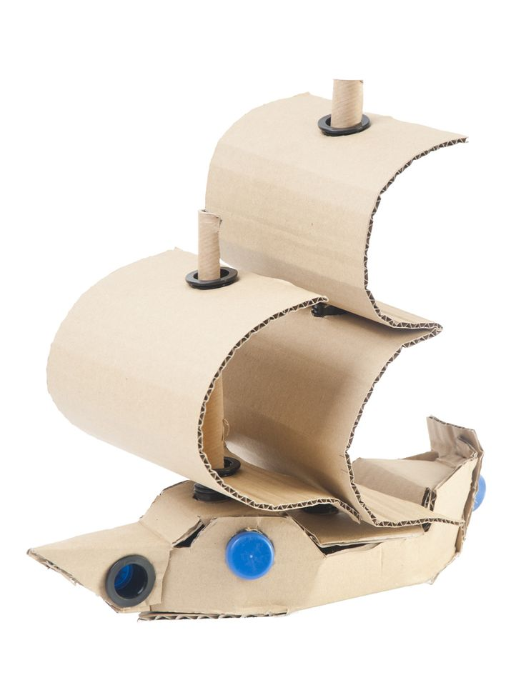 DIY Cardboard models - explore your imagination with AKTO - a unique way to enjoy recycling!