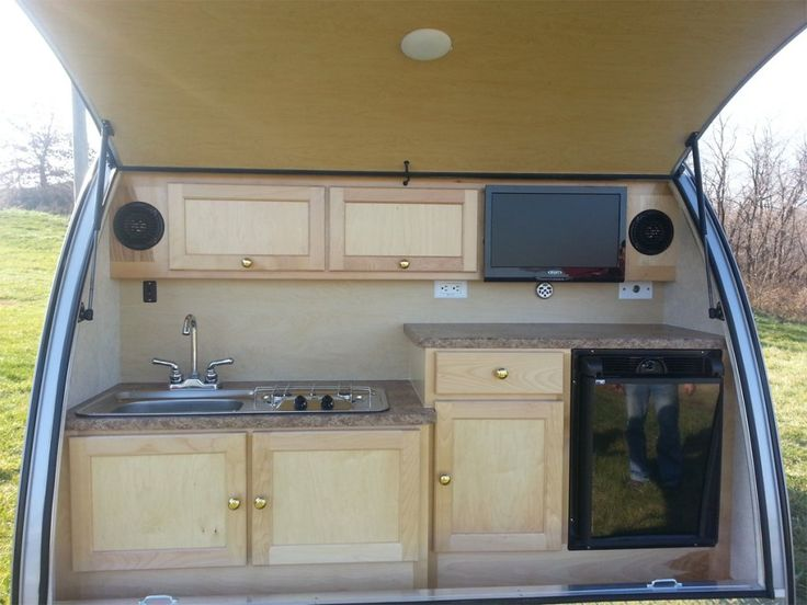 Teardrop Camper kitchens | The Small Trailer Enthusiast | News & info for the small trailer ...
