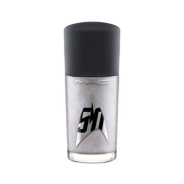 MAC Star Trek Studio nail lacquer ($14) ❤ liked on Polyvore featuring beauty products, nail care, nail polish, mac cosmetics nail polish and mac cosmetics