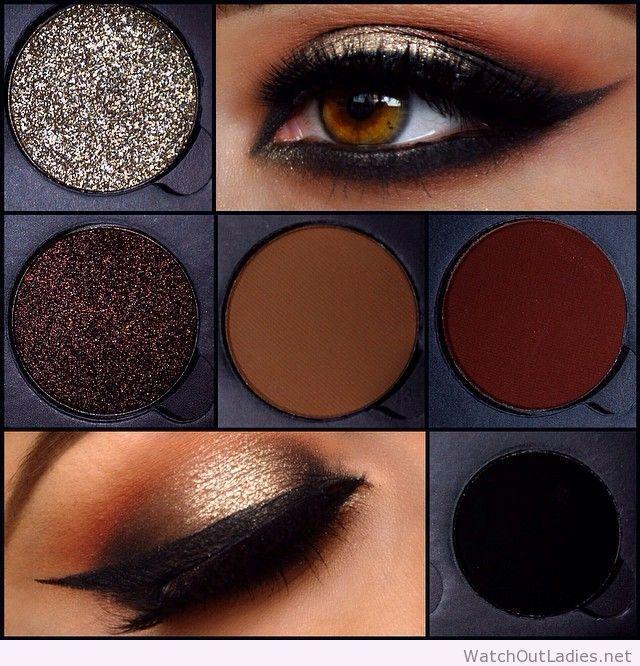 Wonderful eye makeup colors, brown
