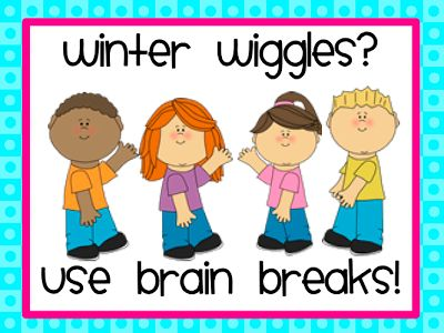 "Resources to break up your day into shorter increments.  ""Brain Breaks"" from Teach123"