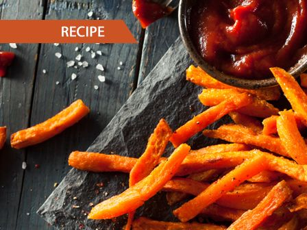 Recipe: Baked Sweet Potato Fries: http://auspo.st/1UUpMnX  #Recipe #Healthy #Vegetarian #FarmhouseAU