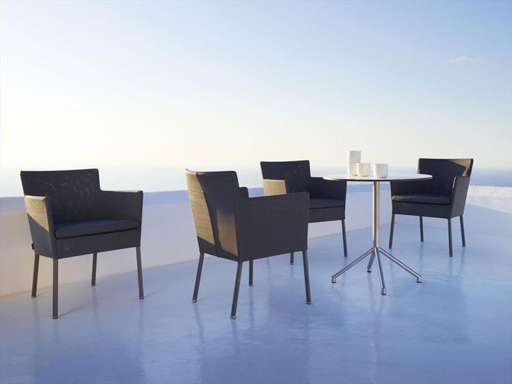 Photo: Skovdal.dk  Stackable garden armchair MIRAGE - Cane-line