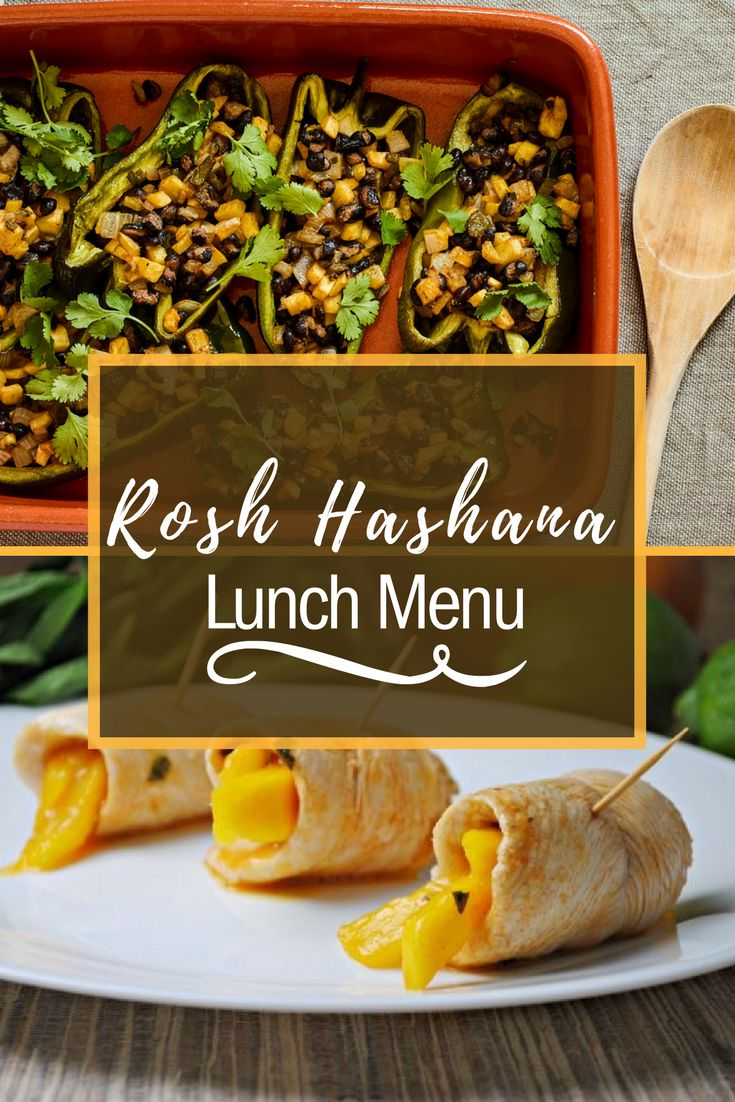 Check out our Rosh Hashana Lunch Menu for some inspiration, and yummy creations!