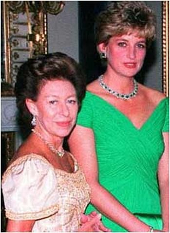 Princess Margaret and the Princess of Wales.   Both were 'outcasts' - and also the best of friends.