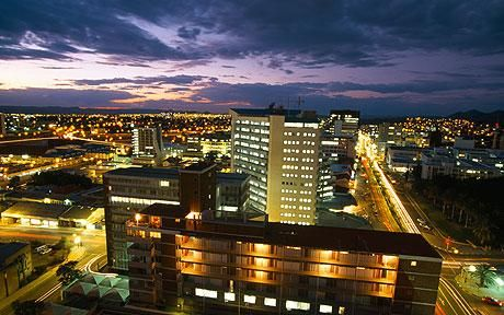 Windhoek, Namibia (Africa) -- Capital City Skyline....    Writing from Windhoek would be a dream come true!