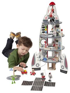 Discovery Space Ship and Lift Off Rocket - modern - children lighting - by Wayfair