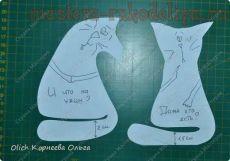 Мастер-класс по шитью игрушек: Текстильные коты