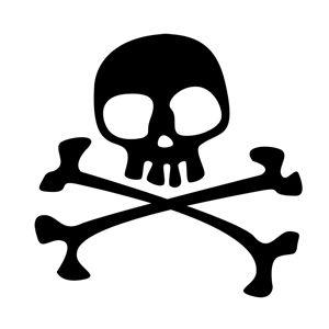 Silhouette Design Store - View Design #3441: skull and crossbones