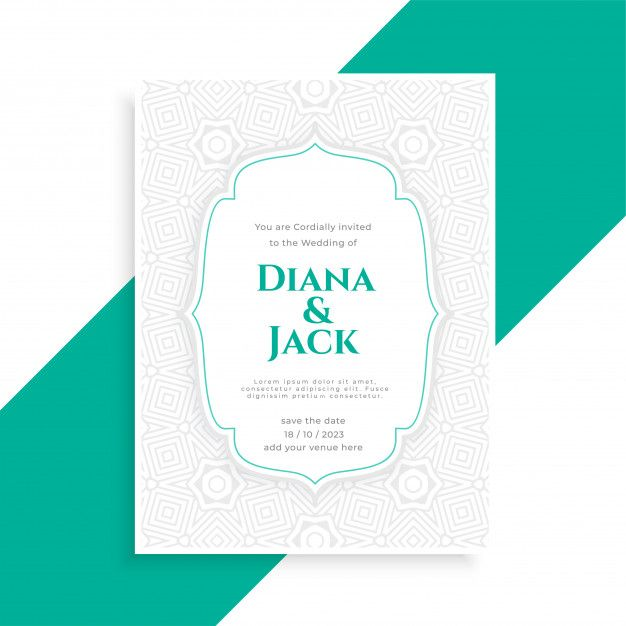 Download Save The Date Wedding Invitation Card Template For Free Wedding Invitation Card Template Wedding Invitation Cards Vector Business Card