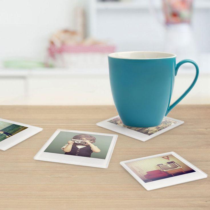 Mit den Sofortbild Untersetzern kannst du ab jetzt deine ganz persönlichen Untersetzer gestalten - mit Fotos, Illustrationen, Grafiken usw.