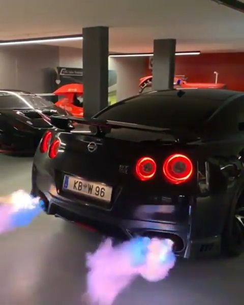 Nissan GTR Flames🔥   – Luxury Cars World – Exotic cars