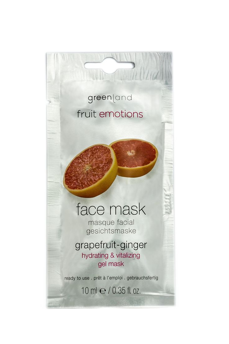Grapefruit - Ginger. Gel mask with Apricot seed pits. This intensive hydration mask takes care of the skin from within. After usage your boosted skin will beam with new vitally and strength. Skin types: for all skin types