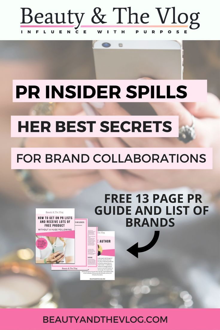 Blogging and YouTube influence requires strong relationships with brands for sponsorships and other opportunities. This episode of the Beauty and the Vlog podcast reveals insider secrets from a PR profeessional.