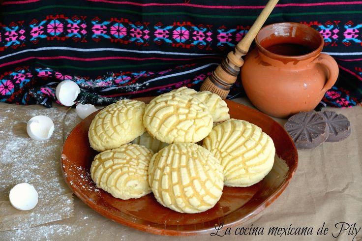 La cocina mexicana de Pily: Conchas Caseras Tradicional Pan Mexicano