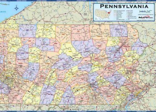 Pennsylvania Counties Httpusazoommaps