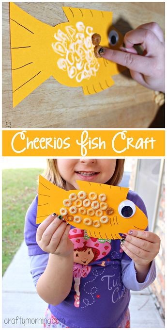 Cheerios Fish Craft for Kids to Make | CraftyMorning.com