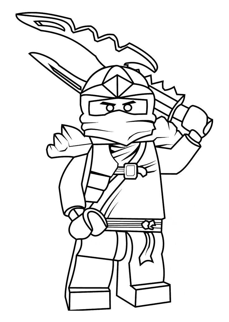 Lego Ninjago Kai Coloring Pages - Coloring Home | 1031x736