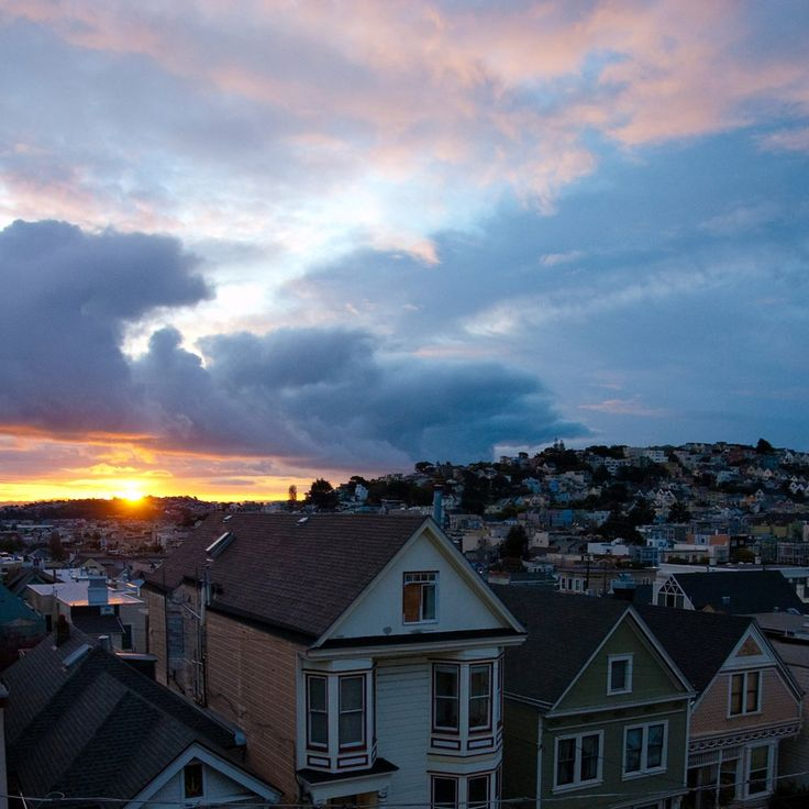 The Sun Also Rises...  Morning sun on San Francisco rooftops // photo : Eric Nielson