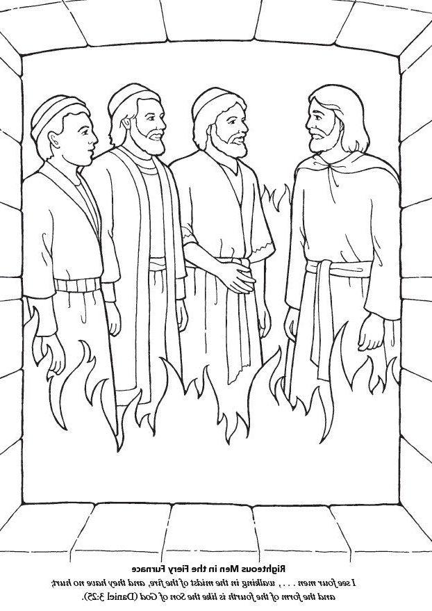 Shadrach Meshach And Abednego Coloring Page Sekolah Minggu Sekolah