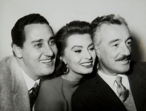 Sophia Loren, Alberto Sordi e Vittorio De Sica