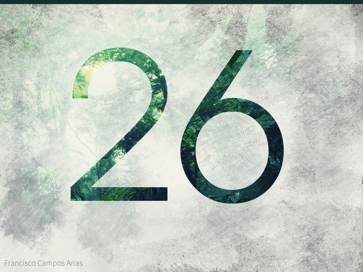 My age represent en a sans-serif font with a beautiful cloud forest fill. Tool used, Adobe Photoshop CS5