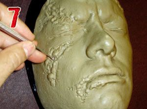 12-Step Tutorial on how to make Latex Masks (the example provided is with a monster mask)
