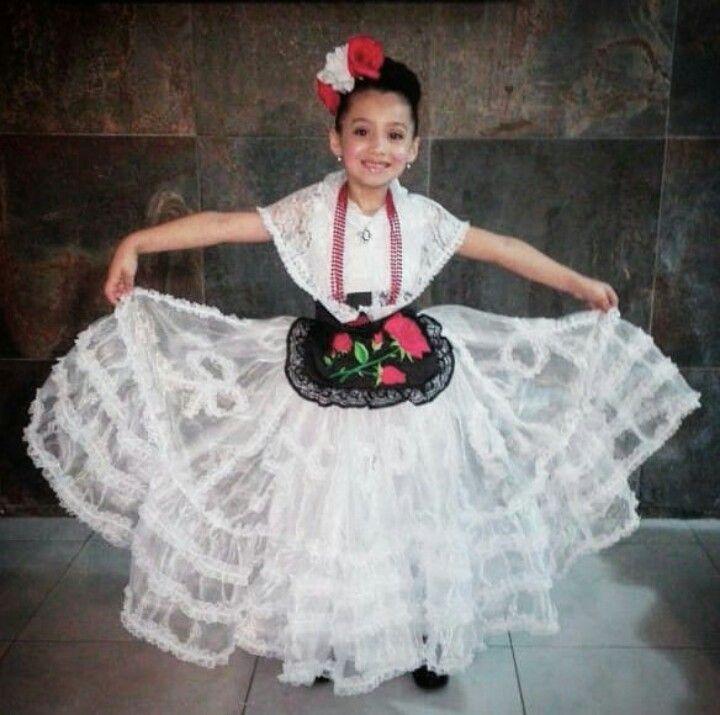 Traje Típico De Veracruz Para Niña Vestuario Mexicano