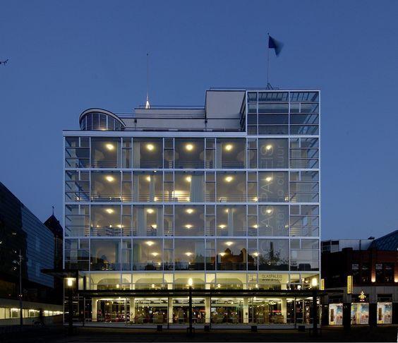 Schunk Glaspaleis, Heerlen. Built in 1930s and influenced by modernism of Mies Van der Rohe