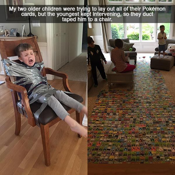 One of the hardest parts of parenting is not cracking up when your child is in trouble.