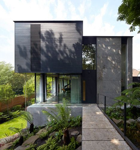 "Hampstead home designed to evoke ""the spirit of a tree house""."