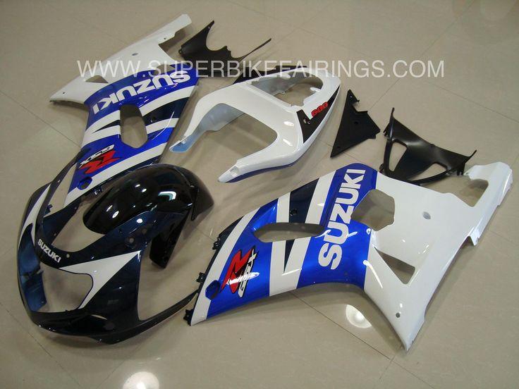 2001-2003 GSXR-600 750 Blue, White & Black Suzuki Fairings