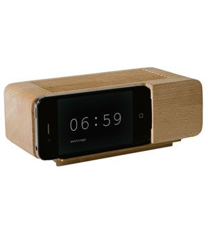 Alarm Clock  Yet again, you're down to one last bar. Sigh. Slide your smartphone into position on the front of this wooden docking station and, while it juices up, the face of an old-school alarm clock will appear. There's no oversleeping and you're guaranteed to leave the house with a fully charged phone.    To buy: $39, gnr8.biz.