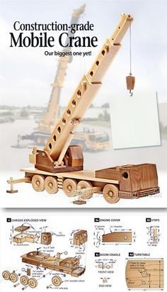 Wooden Mibile Crane - Children's Wooden Toy Plans and Projects | WoodArchivist.com