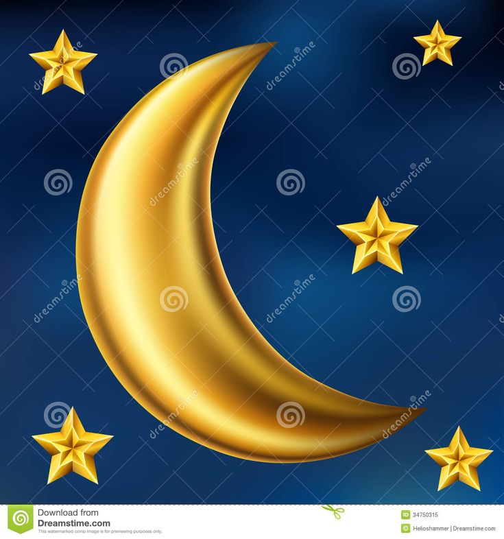 Gold Moon And Stars - Download From Over 28 Million High Quality Stock Photos, Images, Vectors. Sign up for FREE today. Image: 34750315