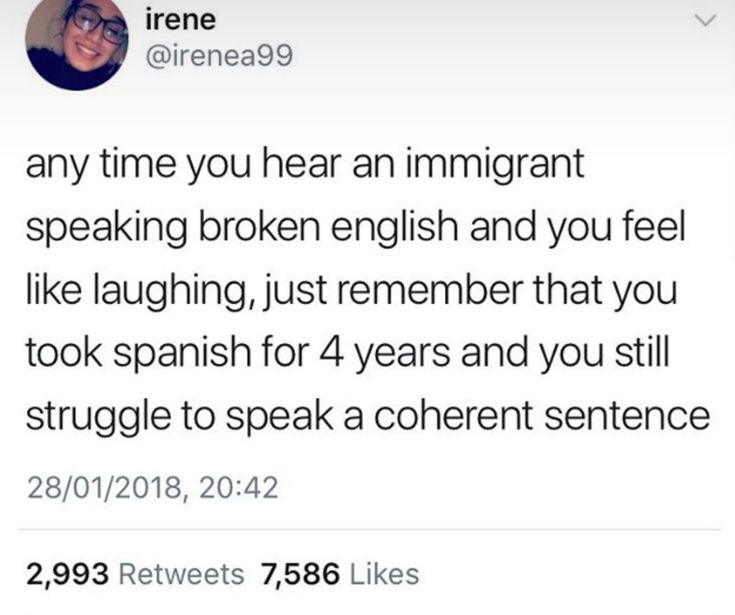 Yo, I've taken both French and Italian and still can't speak either. People who learn English are fantastic