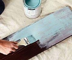 Técnica de pintura para envejecer muebles de madera