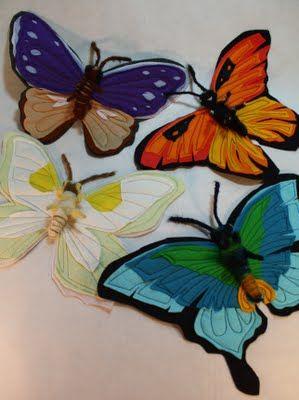 fall Felt Craft Ideas | Heidi Boyd Crafty Inspirations - Felt Butterfly Tutorial