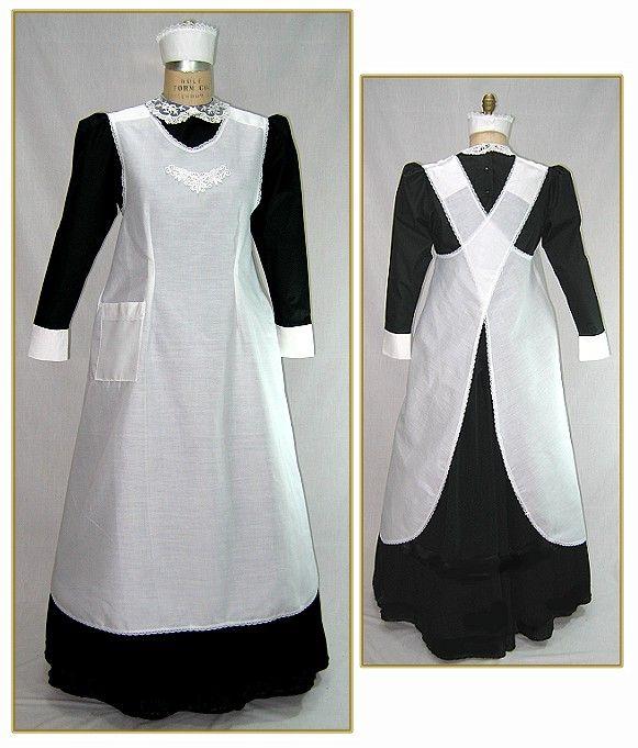 ... for Women & Men - 381-edwardian-maids-cross-strap-apron--style-0339-cr