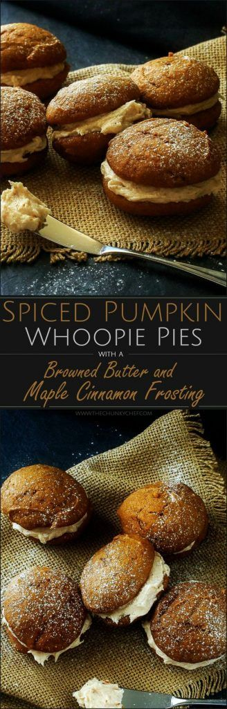 Spiced Pumpkin Whoopie Pies with Browned Butter Maple Cinnamon Frosting 42 mins to make                                                                                                                                                                                 More