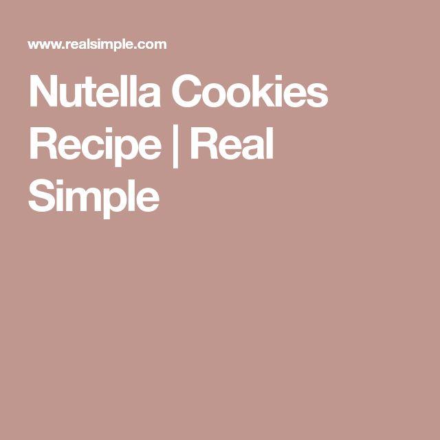 Nutella Cookies Recipe   Real Simple