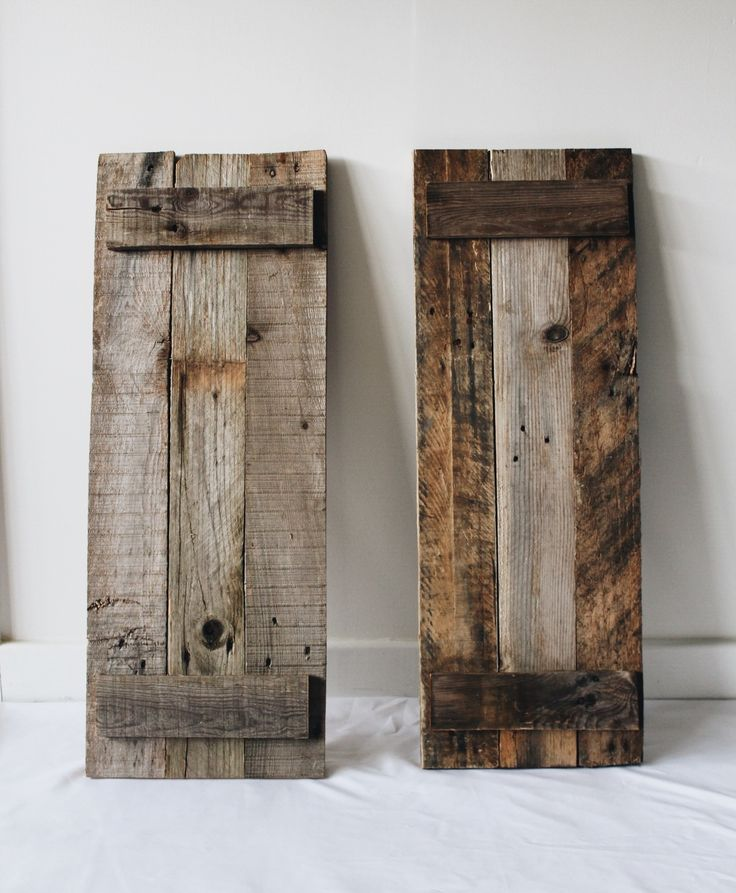 These shutters are made out of recycled pallet wood and weathered to provide a true rustic look. These are best utilized...